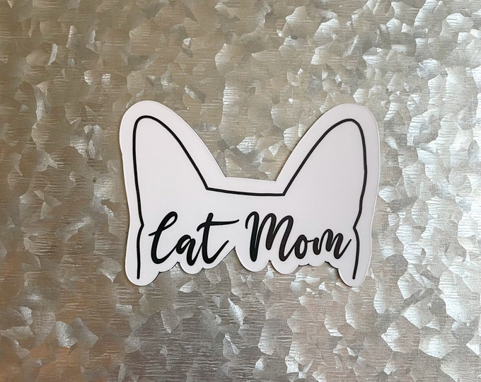 Cat Mom Magnet, Cat Magnet, Pet Parent Magnet, Car Magnet, Magnet for Fridge, Magnet for locker, Birthday gift for her, small gift,