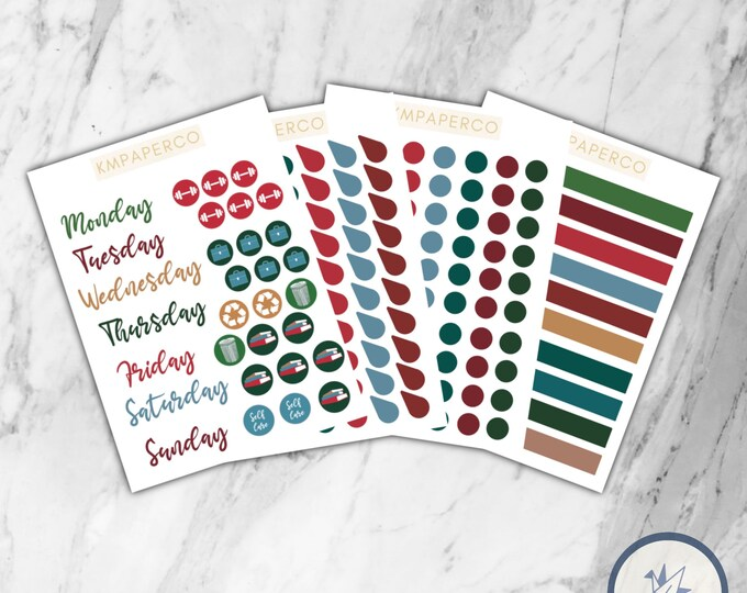 Winter color palette Planner Stickers, Winter Planner stickers, BUJO stickers, bullet journal stickers, winter color palette,
