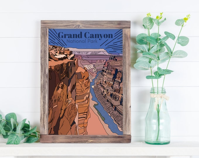 Grand Canyon Art Print, Grand Canyon  National Part Print, Grand Canyon , National Park Art Print, Art Print, Gift for her, gift for him