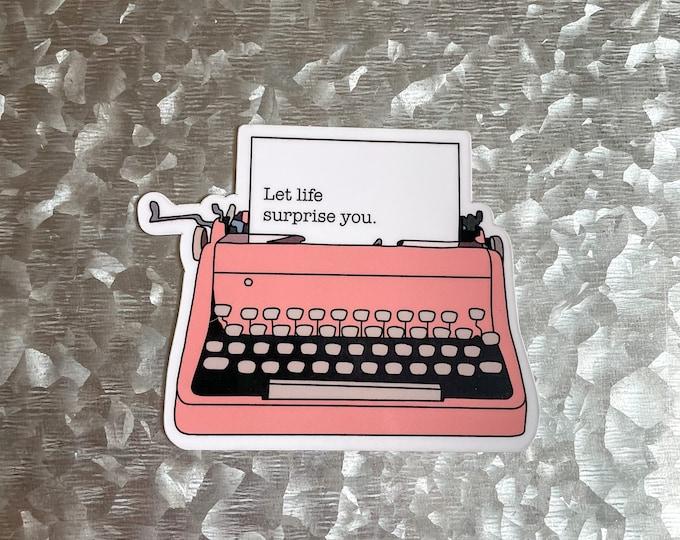 Typewriter Magnet, Vintage Vibe Magnet, Car Magnet, Magnet for Fridge, Magnet for locker, Birthday gift for her, small gift,