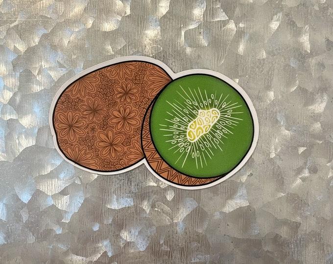 Kiwi Magnet, Fruit Magnet, Colorful Magnet, Car Magnet, Magnet for Fridge, Magnet for locker, Birthday gift for her, small gift, Doodle