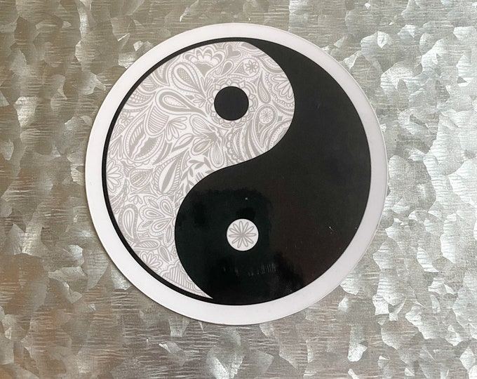 Ying Yang Magnet, Mandala Magnet, Black and White, Car Magnet, Magnet for Fridge, Magnet for locker, Birthday gift for her, small gift,