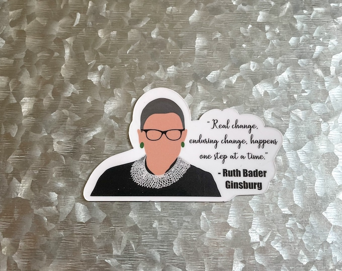 RBG Magnet, Quote Magnet, Ruth Bader Ginsburg, Car Magnet, Magnet for Fridge, Magnet for locker, Birthday gift for her, small gift,