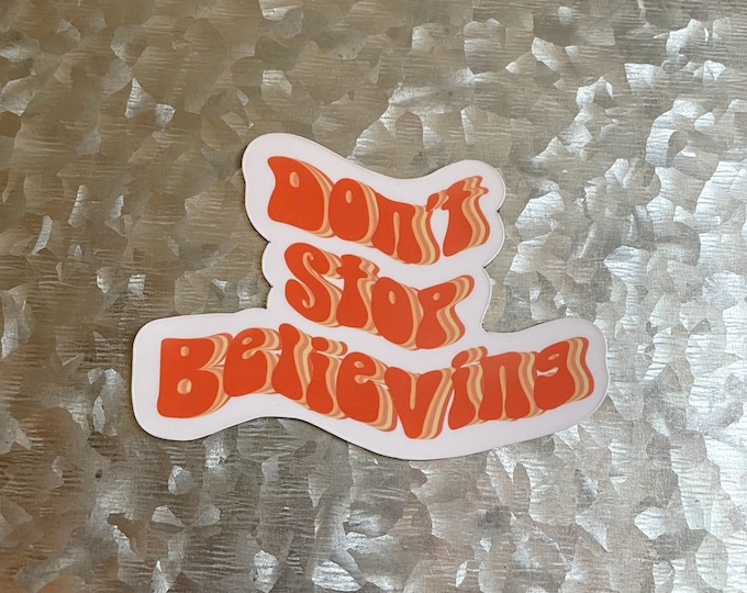 Don't Stop Believing Magnet, Journey Magnet, Car Magnet, Magnet for Fridge, Magnet for locker, Birthday gift for her, small gift,