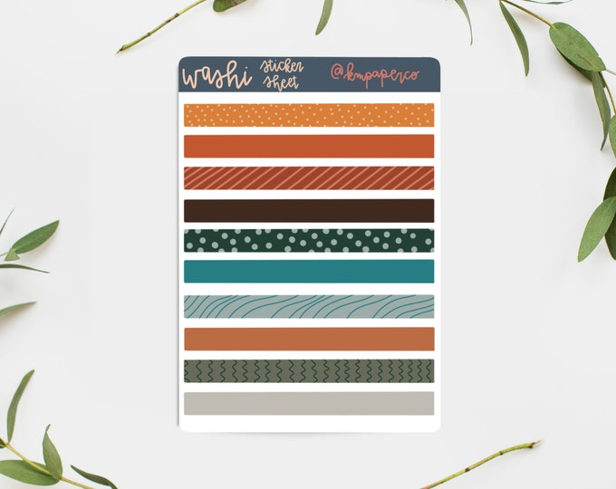 Planner Stickers, Washi Stickers, Blue and Orange Stickers, Sticker Sheet, Bullet Journal Stickers, Stickers for journal, small gift for her