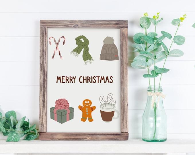 Christmas / Winter Aesthetic Print, Christmas Print, Holiday Print, Art Print, Christmas Decor, Holiday Decor, Gift for her, Gift for him