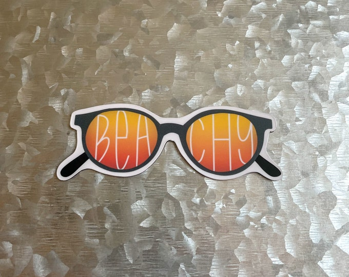 Beachy Magnet, Sunglasses Magnet, Sunset Magnet, Car Magnet, Magnet for Fridge, Magnet for locker, Birthday gift for her, small gift,
