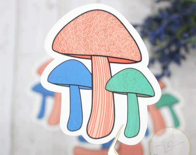 Mushroom Sticker, Groovy Sticker, Henna Sticker, Birthday Gift for her, Laptop Sticker, Waterbottle Stickers Cute, Sticker for journal