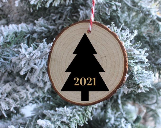Christmas Tree Year Wood Ornaments, Christmas Ornaments, Custom Christmas Ornaments, Gift for her, Gift for him, Christmas Gift
