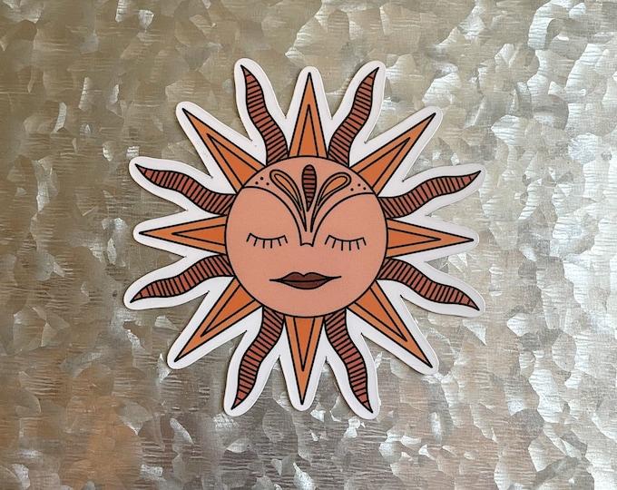 Sun Magnet, Boho Magnet, Groovy Magnet, Car Magnet, Magnet for Fridge, Magnet for locker, Birthday gift for her, small gift,