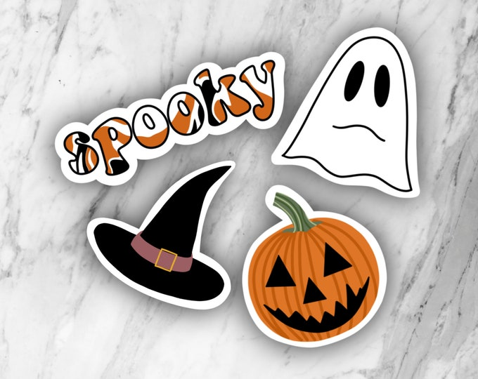 Halloween pack, halloween stickers, spooky stickers, laptop stickers, holiday stickers