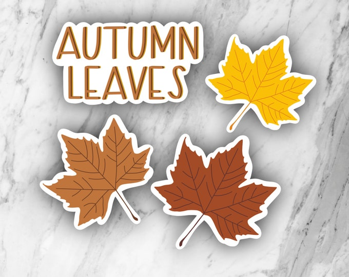 Autumn Leaves pack, fall stickers, leaves stickers, laptop stickers, season stickers
