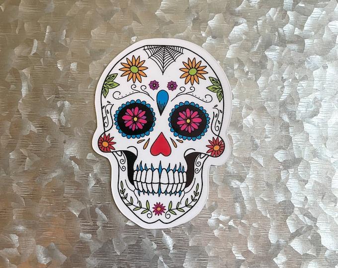 Sugar Skull Magnet, Halloween Magnet, Car Magnet, Magnet for Fridge, Magnet for locker, Birthday gift for her, small gift,