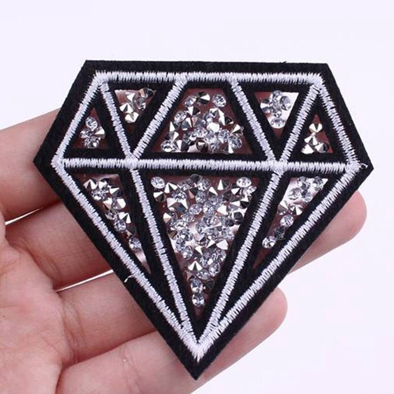 Diamond Style Patch Patch DnD Patches Punk Patches Flower Patches Jackets Iron on Patches Patches for Jackets Custom Patches