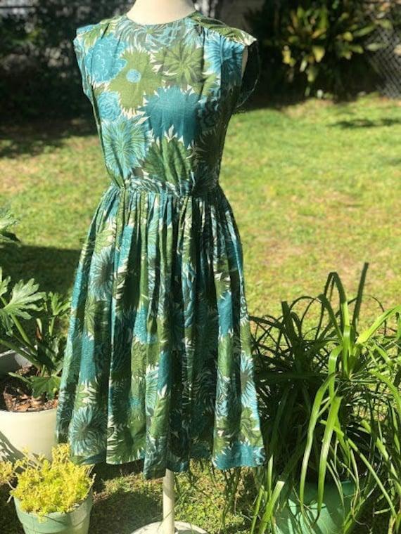 Vintage Handmade Summer Floral Dress