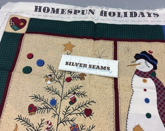 Homespun Holidays Cut-and-Sew Wall Hanging, Stocking, and Ornaments - Cranston Print Works