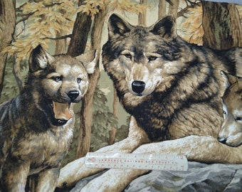 Wolf Family Lap Quilt/Wall Hanging Panel