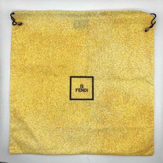 Authentic FENDI Logo Drawstring Dust Bag, Yellow F