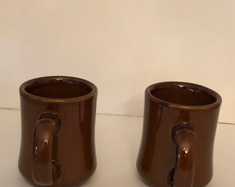 Restaurant Ware, Diner Mug, Brand - Superior, NEW, Chocolate Brown Mug, Heavy Mug, 7 Fl Ounces, Drinkware, Coffee Mug, NEW, Set of 2
