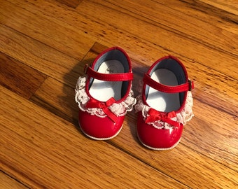 Red Patent Pre Walker Baby Shoes By Little Cuttie
