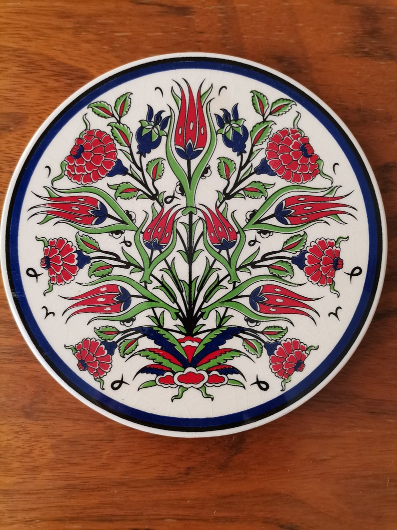 Hot Pad Kitchen Decor gift- FREE SHIPPING Turkish Ceramic Trivet  for  serving hot dishes Pot Trivet Table Trivet Kitchen Trivet