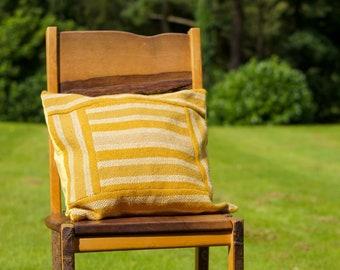Gold Handwoven Cushion