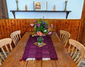 Purple Handwoven Table Runner
