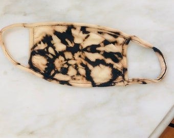 Adult Swirl bleached face mask