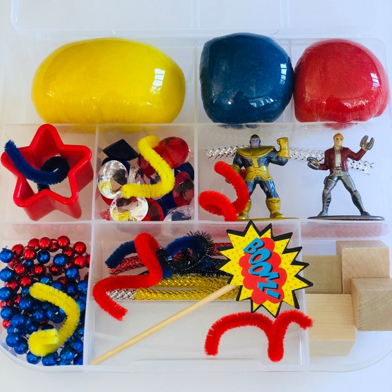 Superhero Avengers Marvel Play Dough Kit Play dough Sensory