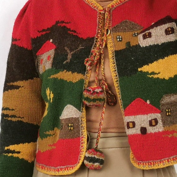 Hand Knitted Artsy Crafts work / Austrian  Cardig… - image 4