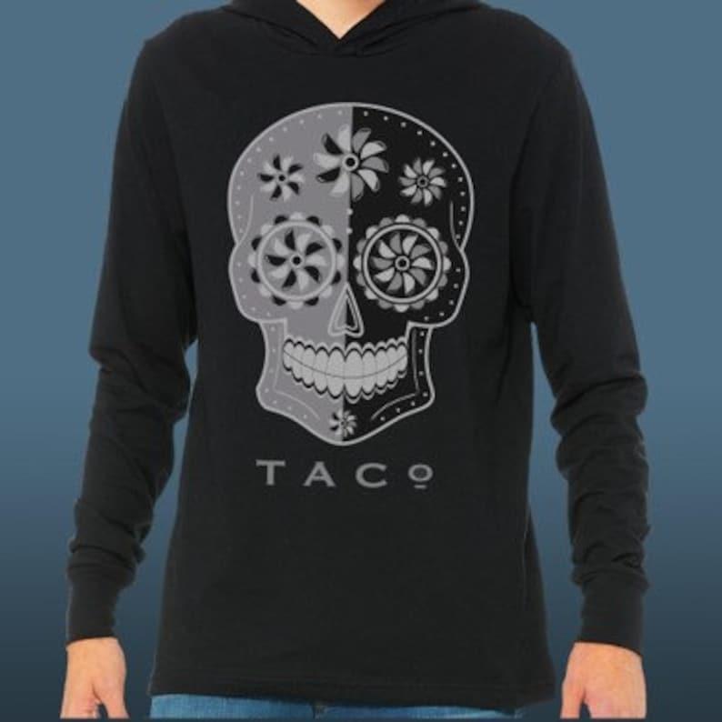 TACo Skull Long Sleeve Hooded Tee