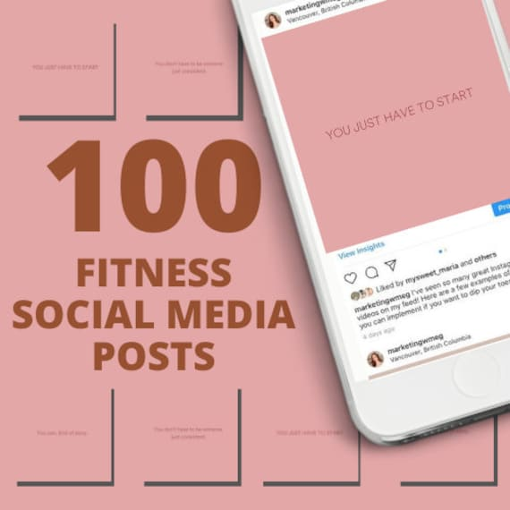 100 Workout Instagram Posts Fitness Quotes Instagram Health Etsy
