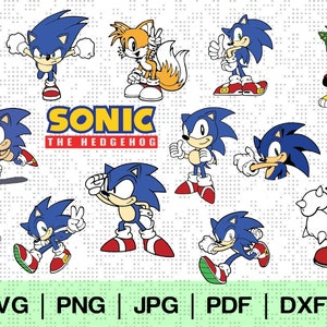 Sonic The Hedgehog Svg Etsy