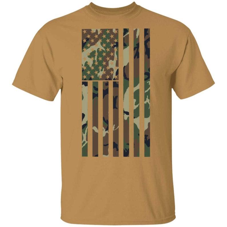 Camo American Flag T-Shirt