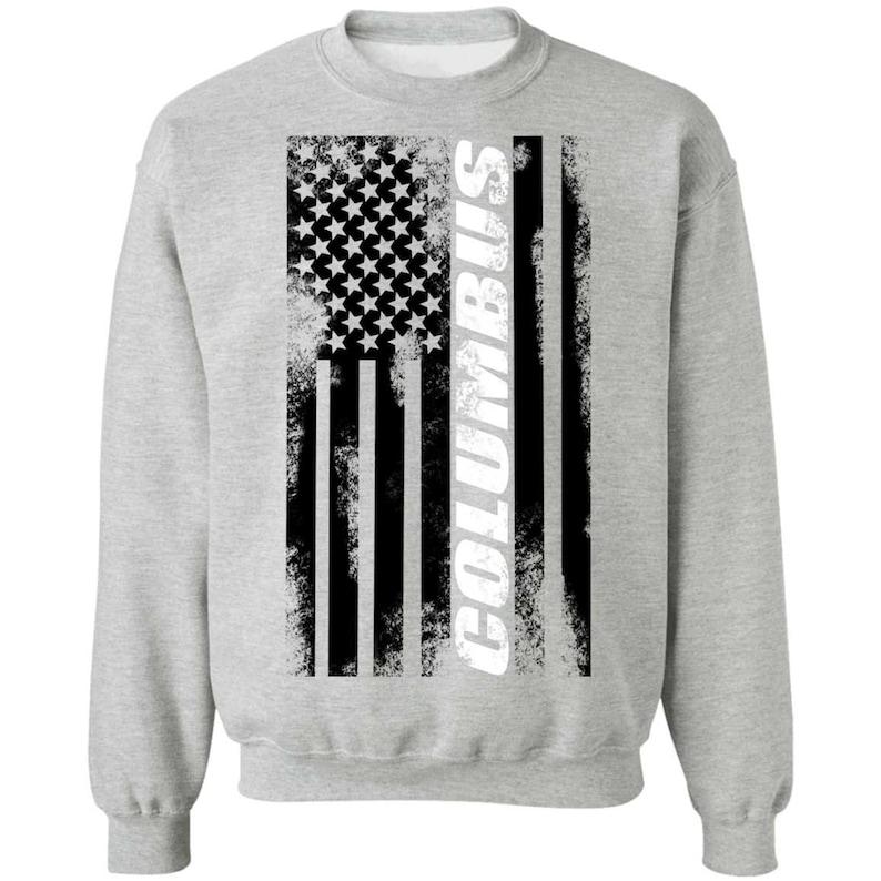 Columbus Ohio American Flag Crewneck Sweatshirt Masswerks Store