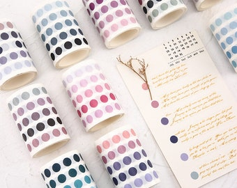 Dot Stickers - Roll of Washi Tape Round Stickers