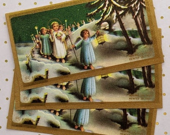 12 pcs- Vintage Holy Cards- Children- Angels- Christmas- Printed in Italy