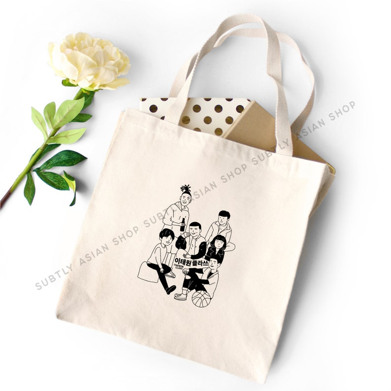 Gift for Kdrama Addict Itaewon Class Inspired Kdrama Tote Bag Gift for K-Drama lover Kdrama Merch Kdrama Themed Gift