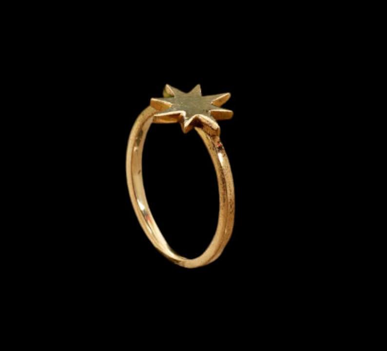 Star Brass Ring,Handmade Ring,Vintage Rings,Boho Rings,Minimalist Ring,Gift Ring,Anniversary Ring,Wedding Ring,Deco Ring,Gift For Her