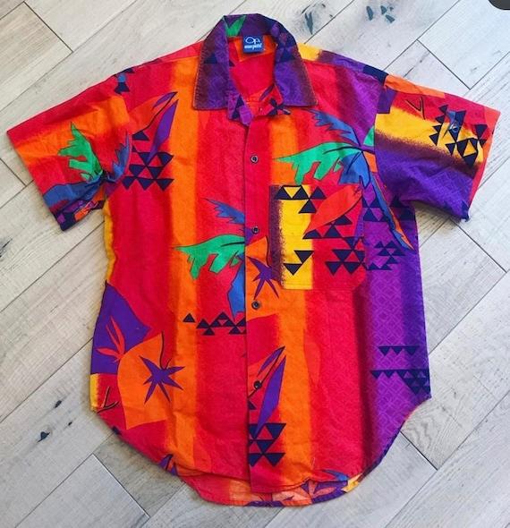 Ocean Pacific Abstract Hawaiian Shirt