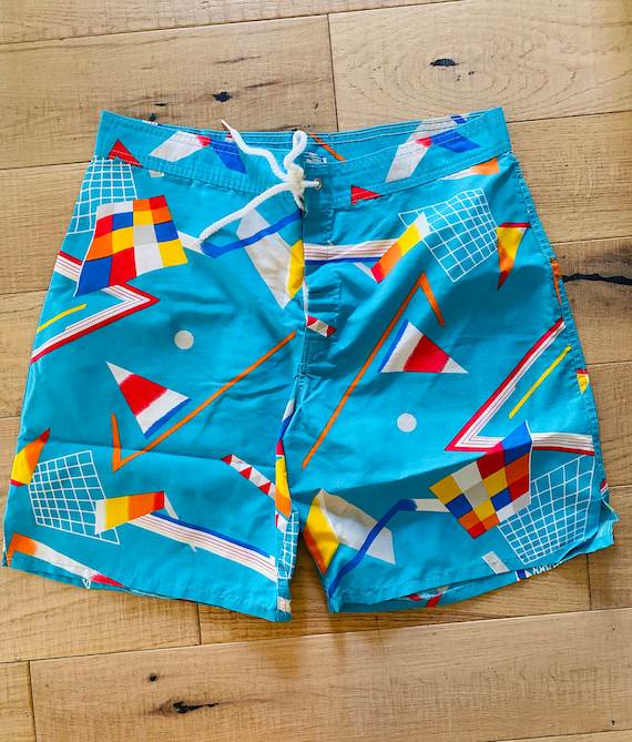 Hobie Board Shorts Blue graphic print
