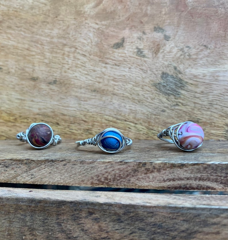 wire rings rings stocking stuffer beaded rings indie rings gifts for teens teen gifts Christmas gifts secret Santa gift |