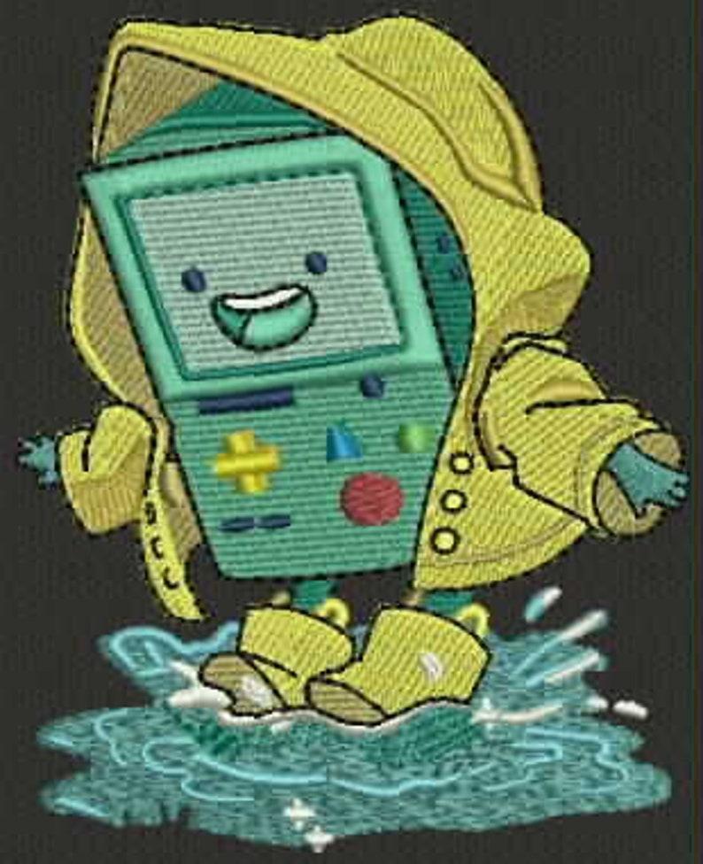 Adventure Time BMO splashing puddle.pes format
