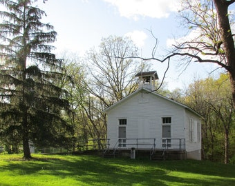 One Room School House, Muscatine Iowa - Single Card