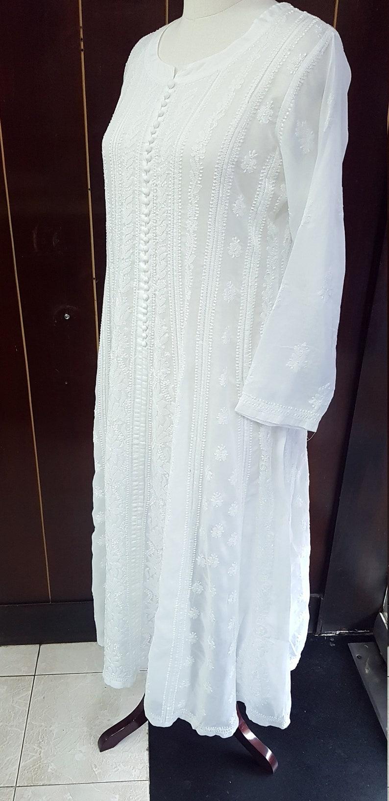 Cotton Azhara Kali Dress with Chiffon Stole
