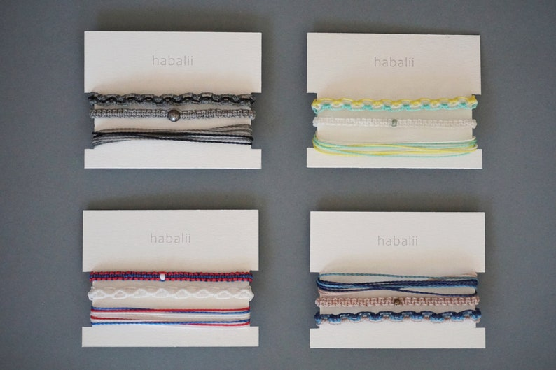 macrame Set of 3 bracelets CLEO in your favorite colors