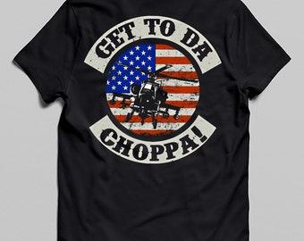 Get to da Choppa T-Shirt-Film Inspiré Predator Arnie Années 80 Retro Sci-Fi Alien