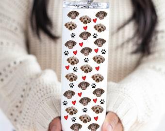 Personalized Tumbler With Pet Face, Custom Dog Face Mug, Dog Photo Mug, Dog Lover Gift, Custom Pet Tumbler, Dog Cat Face Gift