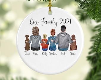 Family Ornament,Family Gift, Family Christmas Ornament, Custom  Ornament, Personalized Christmas Ornament, Custom Ornament, Fur Family Gift