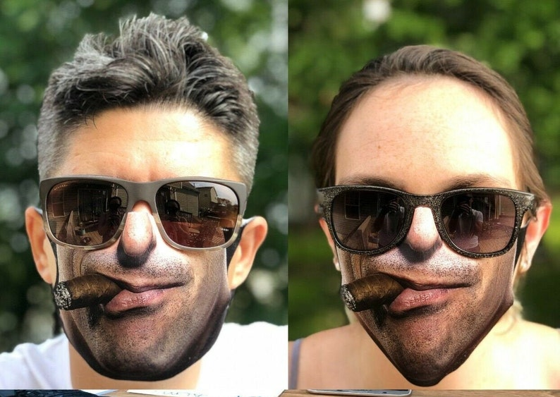 3D print face mask Washable Reusable Waterproof funny Cigar funny cigar face